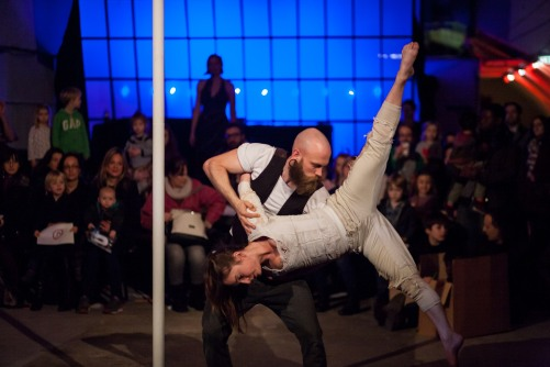 Photo by MiniVault // duo pole with Craig Turner